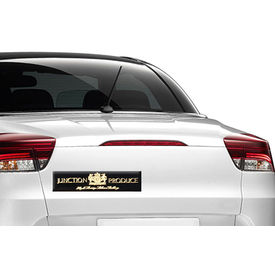 Type R Stylish Decorative Metal Decal Badge Black & Golden-Junction Produce