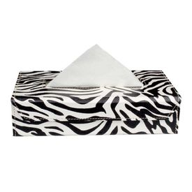 Speedwav Zebra Tissue Box Holder - Black & White