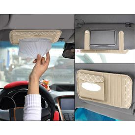 Speedwav 2 in 1 Tissue Holder and CD Visor-Beige