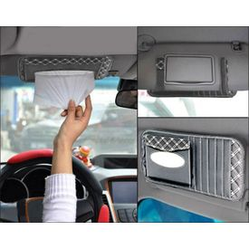 Speedwav 2 in 1 Tissue Holder and CD Visor-Grey