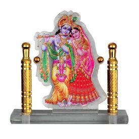 Speedwav Car Dashboard Printed God Idol- Radha Krishna