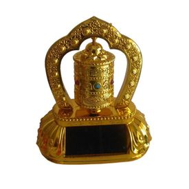 Speedwav Solar Powered Car Dashboard God Idol - T1 Tibetan Prayer Wheel