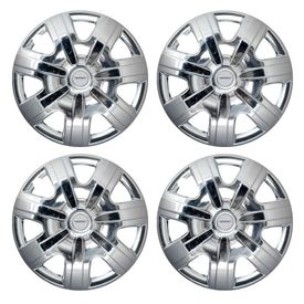 Speedwav AeroSkoda Full Chrome 12 inch Wheel Covers-Set Of 4