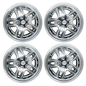 Speedwav Style Center Bolt Full Chrome 14 inch Wheel Covers-Set Of 4