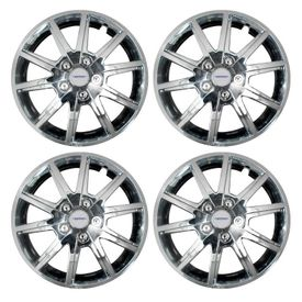 Speedwav Glamour Full Chrome 15 inch Chrome Wheel Covers-Set Of 4