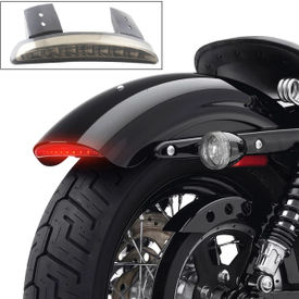 Chopped Fender Edge LED Tail Light Smoked for Harley Davidson