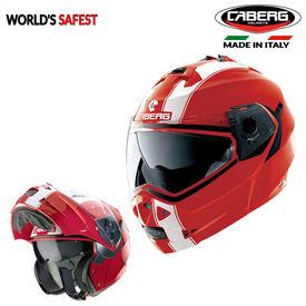 Caberg Duke II Legend 73 Red/White Double Visor Modular Helmet