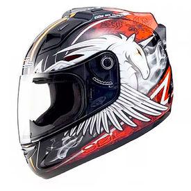 SOL Helmet SL-68S Unicorn Black Red-L