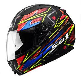 SOL Helmet SM-2 Flip-Up Hyperspace-L