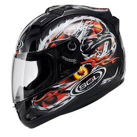 SOL Helmet SL-68S Dragon Black Red-L
