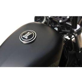 Number One Skull Fuel Cap Black for Harley Davidson