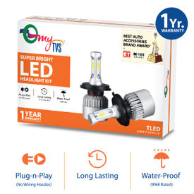 Amazing MyTVS LED Bulb 40W 6000K Super Bright Headlight Kit