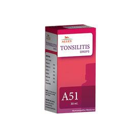 Allen A51 Tonsilitis Drops for Treatment of Tonsils