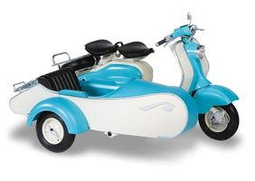 Lambretta Scooter LD 125 with sidecar