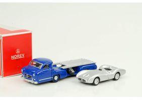 Mercedes Benz Renntransporter + W196 car