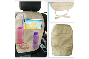 Speedwav Car Back Seats Multi-functional Pockets Storage Organiser-Beige