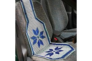 Speedwav Car Marble Bead Seat Acupressure Design - Blue