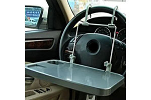 Speedwav Car Portable Laptop Food Tray Table With Cup Holder - Set of 2