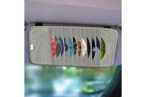 Speedwav Car CD Visor Holder DVD Storage Organiser Bag-Grey
