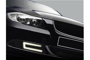 Speedwav Slim U Shape Daytime LED DRL Lights WHITE Set Of 2