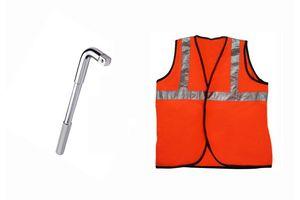 Speedwav 19mm L-Shaped Wheel Nut Spanner+Speedwav Reflective Safety Jacket