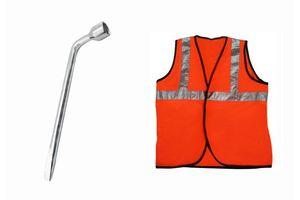 Speedwav 21mm L-Shaped Wheel Nut Spanner+Speedwav Reflective Safety Jacket