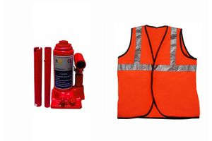 Speedwav 2 Ton Hydraulic Bottle shaped Jack +Speedwav Reflective Jacket