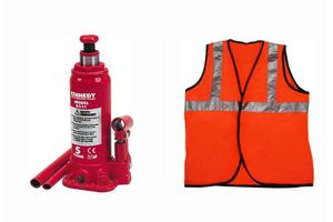 Speedwav 5 Ton Hydraulic Bottle shaped Jack +Speedwav Reflective Jacket