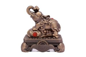 Speedwav Brass Finish Royal Elephant Car Perfume 50ml-Musk