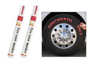 E2 Set of 2 Tyre Highlight Marker Pen Paint Waterproof-Red