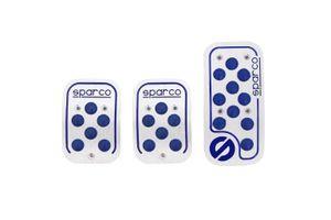Sparco Anti Slip 3D Dot Car Pedals Kit Set Of 3-BLUE