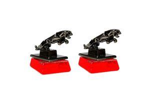 Speedwav Classy Jaguar Refillable Car Perfume - Cool Red - Set of 2