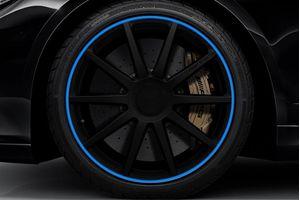 Speedwav Wheel/Rim Stylish Tape-Blue