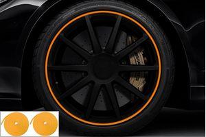 Speedwav Wheel/Rim Stylish Tape Set Of 2-Orange
