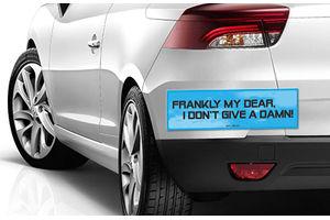 Speedwav Quirky Car Bumper Sticker-Frankly My Dear I Dont Give A damn