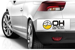 Speedwav Quirky Car Bumper Sticker-Oh Already Beer O Clock