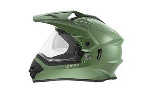 Steelbird Helmet - SB 42 Bang Motocross with Double-Visor - Matt Battle Green