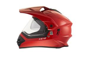 Steelbird Helmet - SB 42 Bang Motocross with Double-Visor - Cherry Red