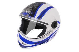 Steelbird Helmet Adonis Dot-White Blue