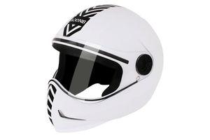 Steelbird Helmet Adonis Fresh Solid-White with Black Sticker