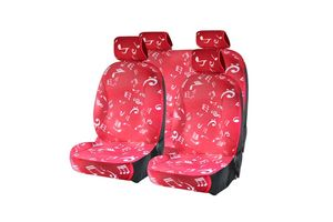 Speedwav 3D Easy Fit Car Seat Covers Music Red