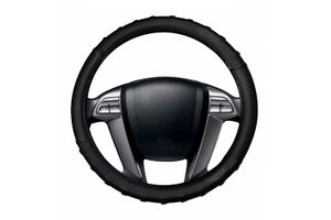 Speedwav Grippy SC106 Leatherette Car Steering Cover-Black