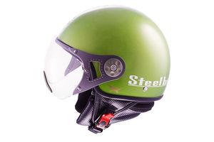 Steelbird Helmet SB 27 Style Open Face-Matt Battle Green