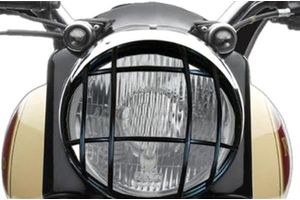 Speedwav Checkered Target Headlight Grill Cover for Royal Enfield