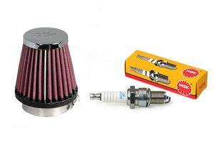 NGK Conventional Bike Spark Plug+K& N Air Filter