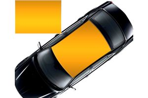 Speedwav Car Roof Glossy Wrap Sheet Orange