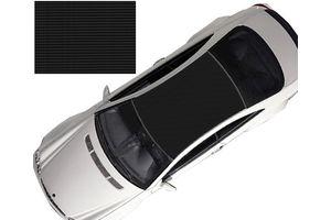 Speedwav Car Roof Wrap Sheet Carbon Design Matt Black