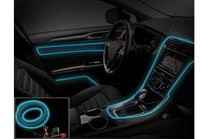 Speedwav Car Interior Ambient Wire Decorative LED Light Blue