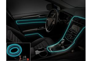 Speedwav Car Interior Ambient Wire Decorative LED Light Ice Blue