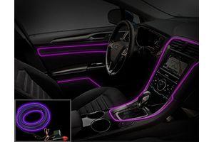 Speedwav Car Interior Ambient Wire Decorative LED Light Purple